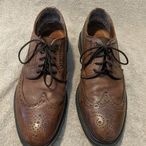 Stafford Brown Leather Wingtip Dress Shoes 9.5